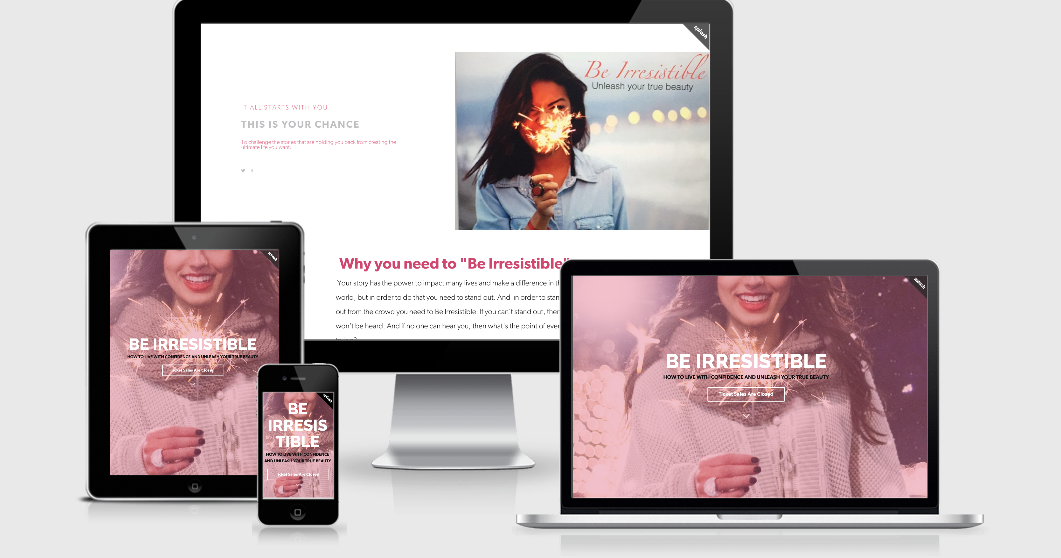 Be Irresistible Event – Landing Page
