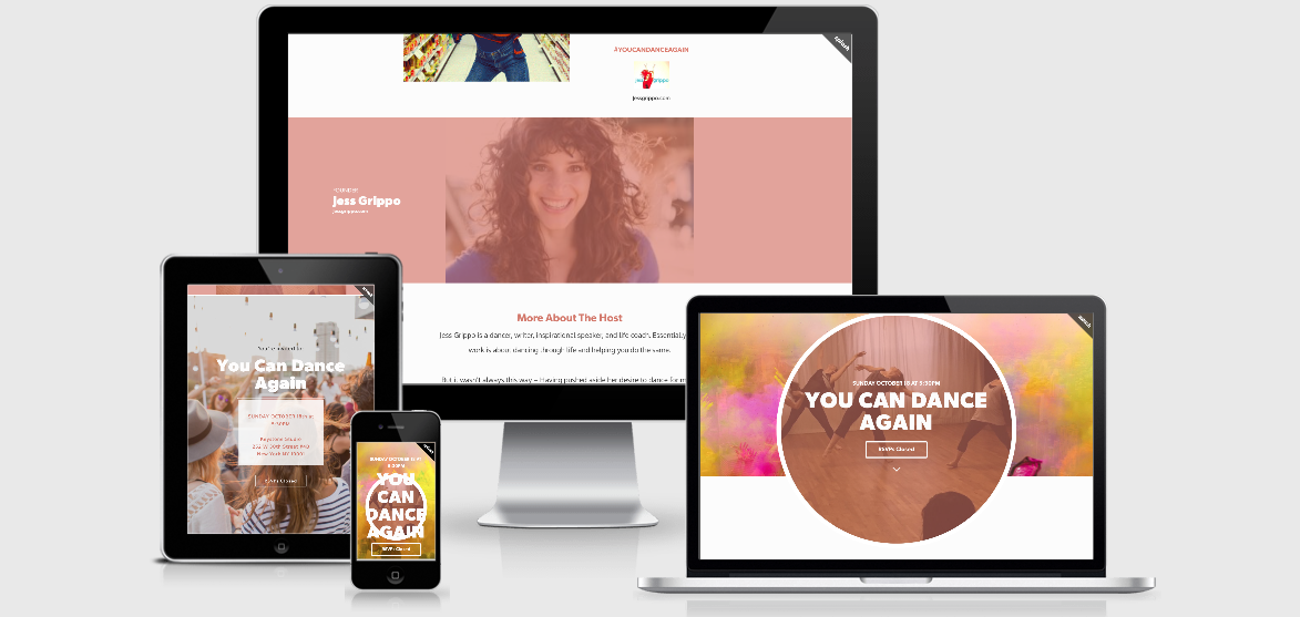 You Can Dance Again – Landing Page